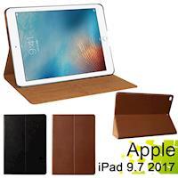 Apple iPad 9.7吋 (2017年版)  平板電腦專用保護套 直接斜立式 牛皮皮套