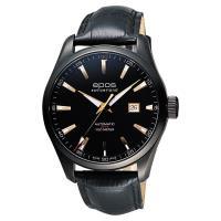epos Passion系列都會時尚機械腕錶 黑x玫塊金時標 44mm 3401.132.25.19.25FB