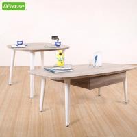 《DFhouse》精品上市 羅浮宮雙抽大茶几+小茶几*立體浮雕PVC表面* 茶几 雙桌