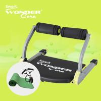 Wonder Core Smart全能輕巧健身機-嫩芽綠+運動墊綠+拉力繩(三件組)