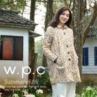 w.p.c.星星釦子款 時尚雨衣/風衣(R1032)-卡其色