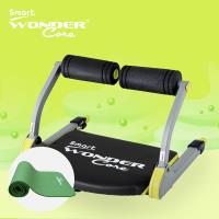 Wonder Core Smart 全能輕巧健身機-嫩芽綠+運動墊綠+核心扭腰盤綠(超值3件組)