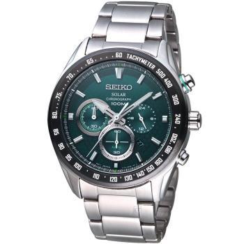 SEIKO Criteria 極速救援太陽能計時腕錶 V175-0EE0G SSC583P1