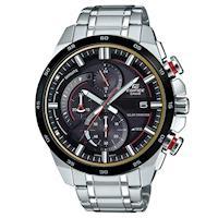 【CASIO】EDIFICE 流線速度立體感太陽能計時賽車錶-紅秒針X黑框 (EQS-600DB-1A4)
