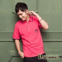 【Dreamming】美式刺繡涼感萊卡短POLO衫(共三色)