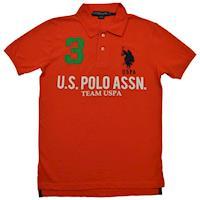 Ralph Lauren 3號馬球經典戰馬短袖POLO衫-橘