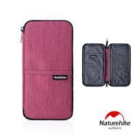 Naturehike 多功能旅行防水護照證件收納包 紅色