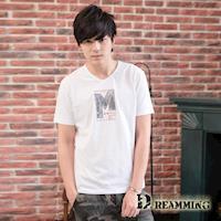 【Dreamming】歐美3D字母萊卡彈力V領短T(共三色)