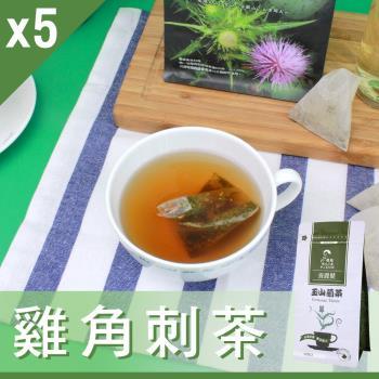 Mr.Teago 雞角刺茶/養生茶/養生飲-3角立體茶包-5袋/組(27包/袋)