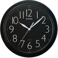 【CASIO】清晰數字典藏圓形掛鐘-黑面 (IQ-01S-1)