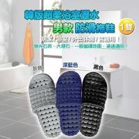 韓版超柔浴室瀝水防滑拖鞋 (男款)- 1雙入