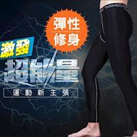 NEW FORCE 超彈力透氣速乾壓力緊身運動褲 黑色