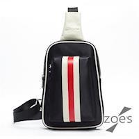 【Zoes】頂級 防潑水牛津布 潮流設計胸背包