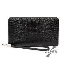 【Zoes】頂級牛皮 鱷魚紋 手機皮夾 手拿包