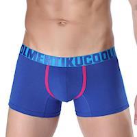 TIKU 梯酷 ~ 潮酷個性運動 棉柔超彈平口男內褲 -藍 (LC1263)