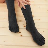 【源之氣】竹炭五趾襪/男女共用(黑色 6雙組) RM-10027