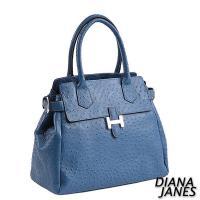 Diana Janes 鴕鳥壓紋時尚手提包