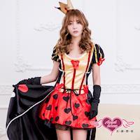 天使霓裳 角色扮演 紅心皇后 童話表演派對服(黑紅F) SS316