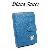 Diana Janes 牛皮按扣中夾