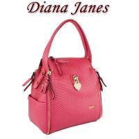 Diana  Janes 牛皮個性皮紋兩用手提包