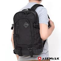 【美國 AIRWALK】 後背包多功能調節式(可放筆電-黑)