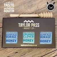 壽滿趣 TaylorPass紐西蘭甜蜜蜜蜂蜜禮盒(琉璃苣x2三葉草x1)