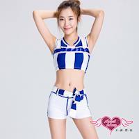 天使霓裳 角色扮演 青春律動 性感啦啦隊表演角色服(白藍F) KR1530