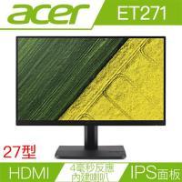 ACER宏碁 ET271 27型IPS面板雙介面不閃頻無邊框液晶螢幕