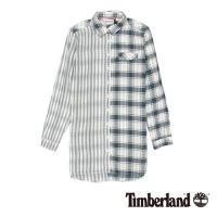 Timberland女款紗染星空藍Long Pond Mix 長版襯衫A1TWY