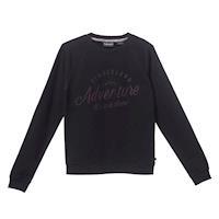 Timberland女款黑色Saco Rvr 圓領品牌標誌運動衫A1TUR