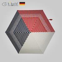 德國kobold酷波德 抗UV潮F撞色系列超輕巧遮陽防曬花紋傘三折傘-紅色