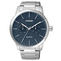 CITIZEN 星辰 Eco-Drive光動能藍色錶盤男錶-藍/44mm(AO9040-52L)
