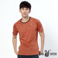 【遊遍天下】男款彈性抗UV速乾圓領衫GS20003(桔色)