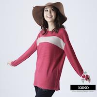 KIINO 工研院合作研發昇温保暖色塊拼接外罩針織衫