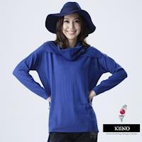 【KIINO】工研院合作研發昇温保暖圓領外罩針織衫附流行脖套(3642-2662)