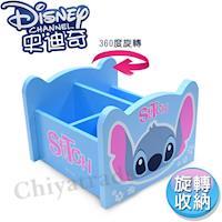 【迪士尼Disney】史迪奇 360旋轉收納盒 筆盒 筆桶 飾品盒 置物盒(台灣製正版授權)
