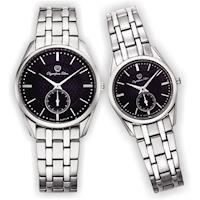 Olympia Star 奧林比亞之星-經典都會系列情人對錶(內斂黑)58072MS+58072LS