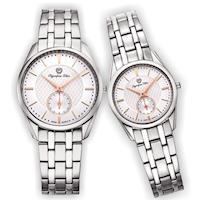 Olympia Star 奧林比亞之星-經典都會系列情人對錶(品味白)58072MS+58072LS