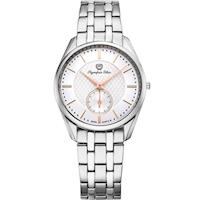 Olympia Star 奧林比亞之星-經典都會系列小秒針時尚計時腕錶(品味白)58072MS