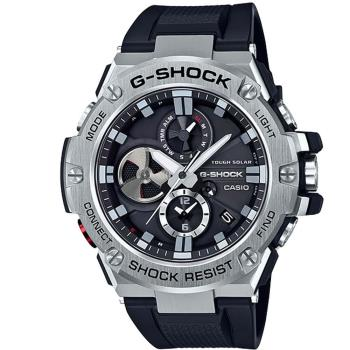 【CASIO】G-SHOCK 磅礡帥氣三針三眼設計感藍芽錶 (GST-B100-1A)