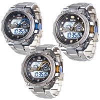 【JAGA捷卡】金鋼戰士雙顯多功能電子錶(AD1161)