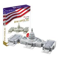 《Cubic Fun》3D立體建築拼圖-精裝-美國國會大樓