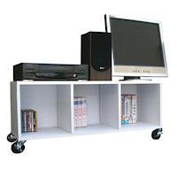 頂堅 寬90公分(活動式)電視櫃/收納櫃/書櫃/置物櫃(附四個有剎工業輪)-三色可選