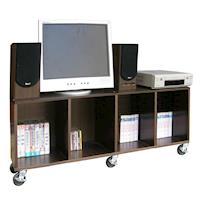 頂堅 寬120公分(活動式)電視櫃/收納櫃/書櫃/置物櫃(附六個有剎工業輪)-三色可選