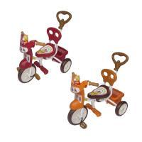 【MIT台灣童車】快樂熊三輪車(紅)(橘) HS-406