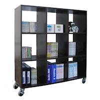 【頂堅】9格(無背板)書櫃/置物櫃/隔間櫃(附四個工業輪)-二色可選