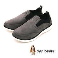 Hush Puppies ZEBULON SPEED系列輕量感彈力休閒 男鞋-灰