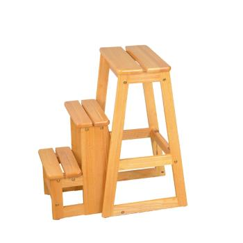 Boden-可羅實木三層收合樓梯椅