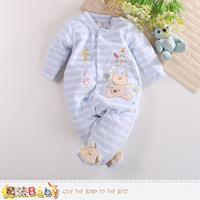 魔法Baby 包腳連身衣 法國設計細絲絨包屁衣~k60420