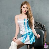 【Ayoka】角色扮演 藍白賽車女郎展場SHOW GIRL角色扮演服二件組